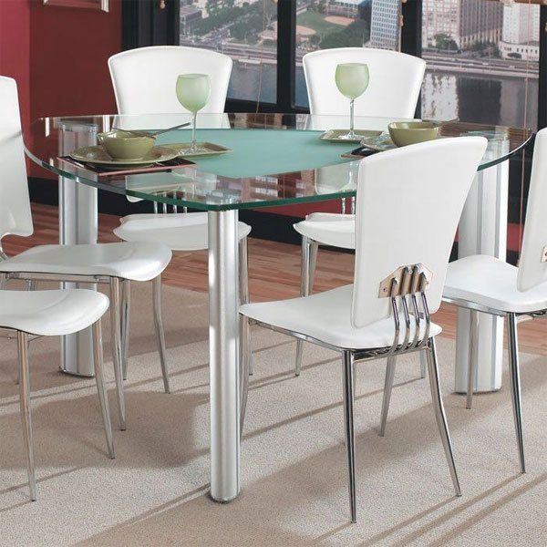 20 Softly Shaped Curves Of Triangular Dining Tables Glass Dining