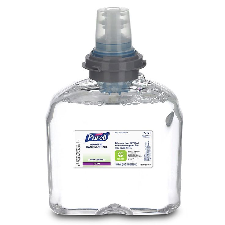 Purell Advanced Hand Rub Is The Only Hand Sanitizer Permitted For