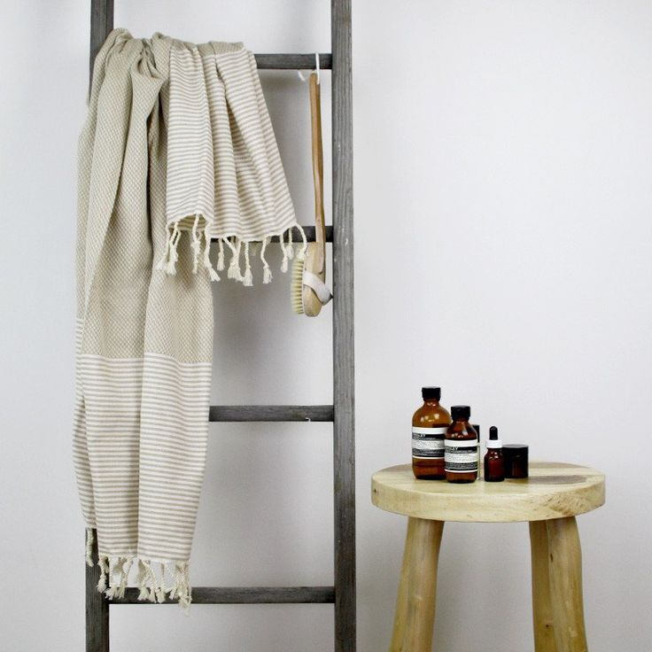 Collective Sol Turkish Towel - Freshwater Latte & White