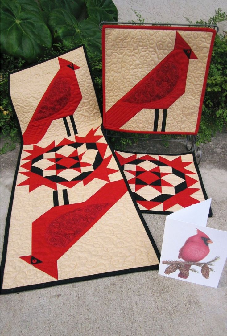 149 Best Images About Red Bird Quilts On Pinterest