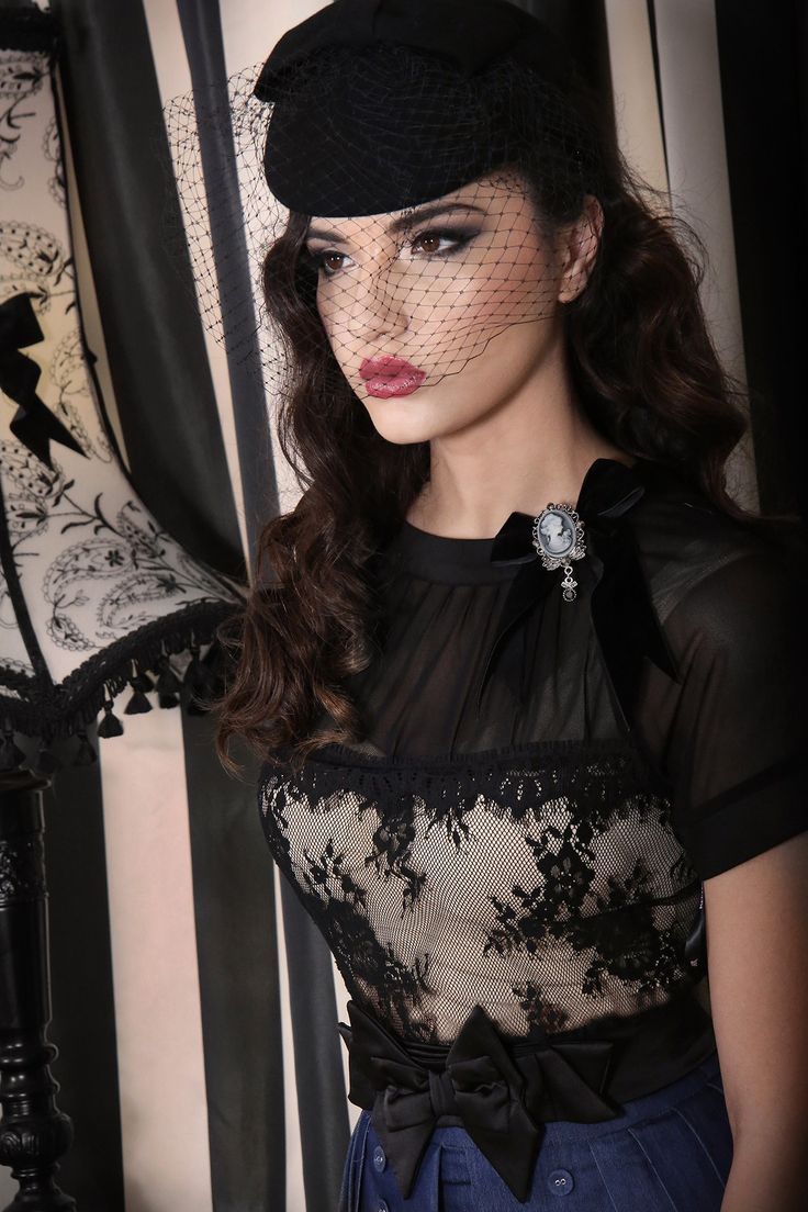 Midnight In Paris Lace Top