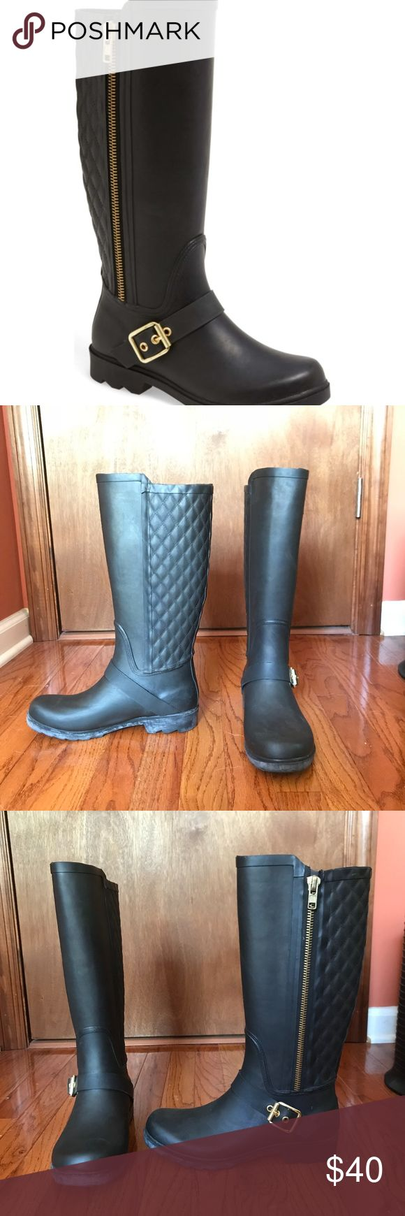 Steve Madden Rain Boots Great Condition Round Toe -6328