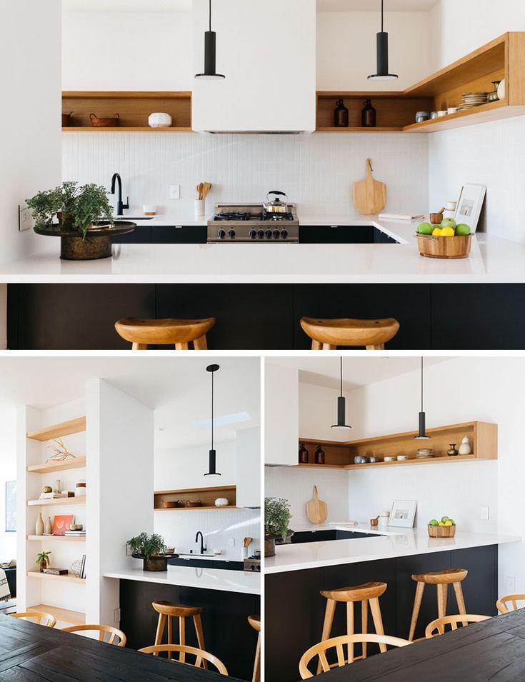 Best 25 modern kitchens ideas on pinterest modern kitchen design contemporary kitchen - Mesmerizing contemporary kitchen design using the bright wall interior ...