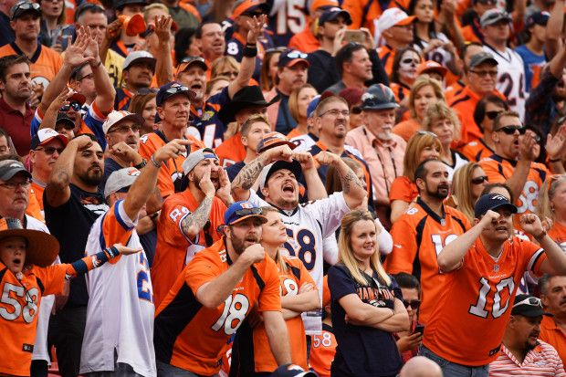 Chargers vs. Broncos:  October 30, 2016  -  27-19, Broncos  -        Denver Broncos fans jeer Philip Rivers (17) of the San Diego Chargers and the rest of the Chargers team during the fourth quarter of the Broncos' 27-19 win on Sunday, October 30, 2016. The Denver Broncos hosted the San Diego Chargers.