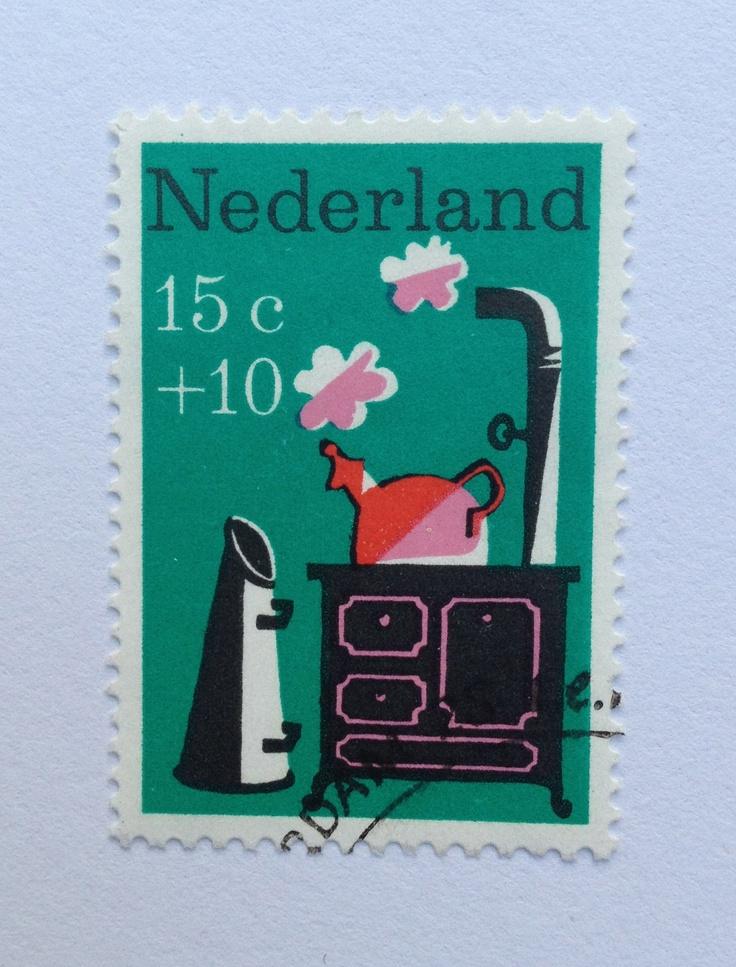 1967 | Wim Bijmoer | groen, rood, zwart | fluitketel