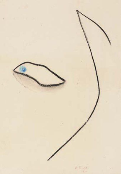 André VERDET 1913-2004, un oeil, 19560