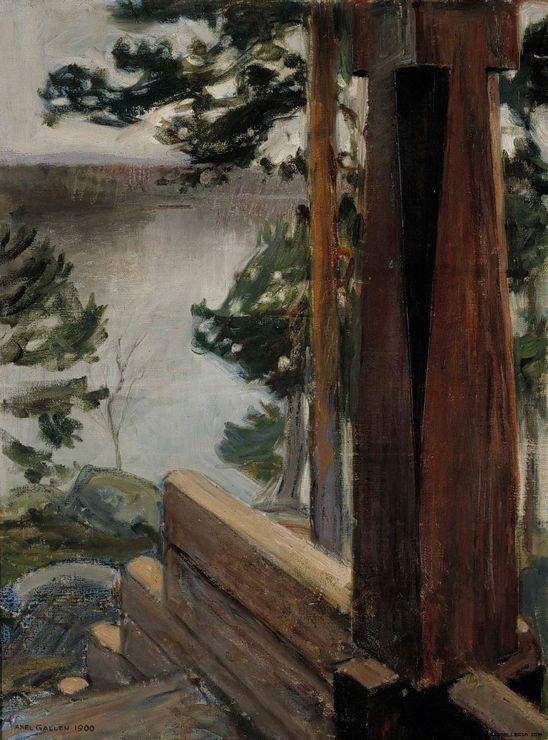 The Athenaeum -GALLEN-KALLELA, Akseli Finnish (1865–1931)_The Kalela Porch- 1900