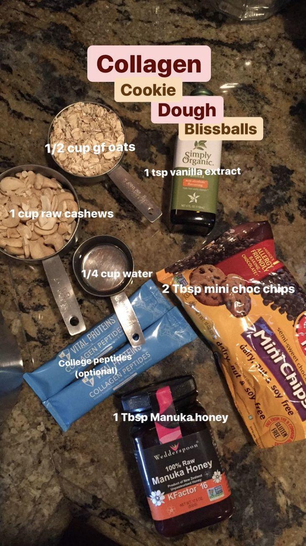 Cookie dough bliss balls simply organic cookie dough