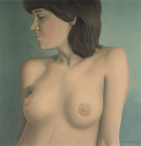 Portrait of a young woman by Christopher Pratt
