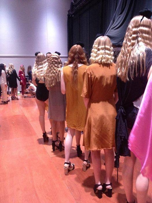 Backstage at Wellington Fashion Week. Spring Summer 2014  www.lovehotel.co.nz
