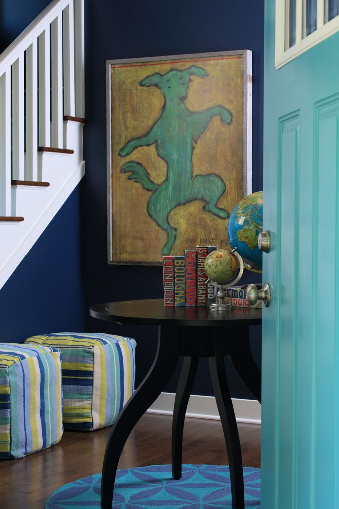 House of Turquoise: Bayberry Cottage....like the turquoise and blue.