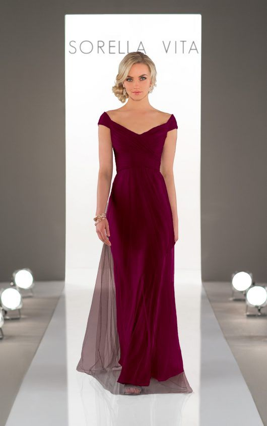 Garnet bridesmaids dress