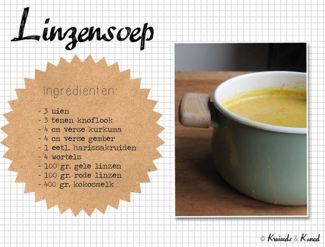 Mijn favoriete soep van het moment? Dat is absoluut deze linzensoep! De laatste weken staat ie eigenlijk iedere week wel een keer op het menu; soms als avondeten, maar ook vaak als lunch. Juist doorde