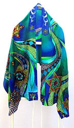 "Amazon.com: ""Secrets of Magen David"" Silk Tallit: Handmade"