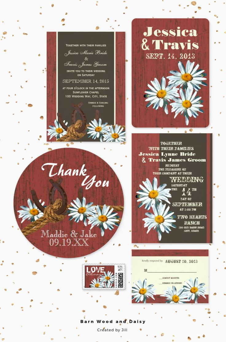 145 best Rustic Country Wedding Invitations images on Pinterest ...