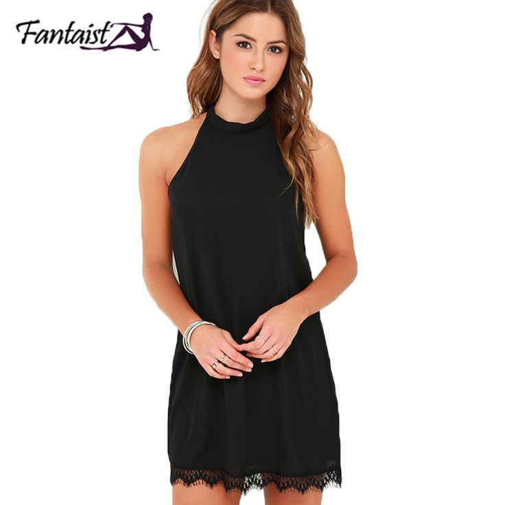 Fantaist 2017 Summer Dress Women Mini Chiffon Party Formal Evening Gowns  Dresses Open Back Black Club fb7103b09
