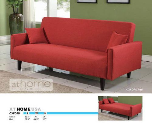 Sofa Beds Oxford Red Loveseat by At Home USA At Home USA