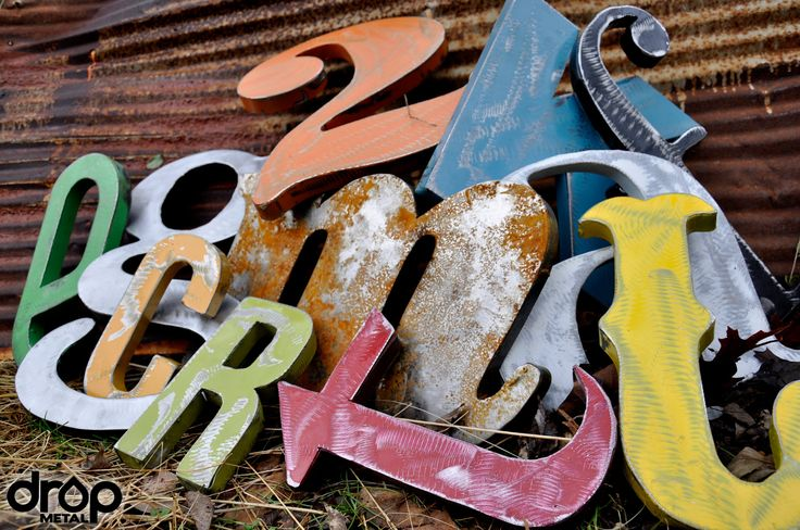 Love the hand made numbers in various sizes, fonts and colors to use for the house numbers