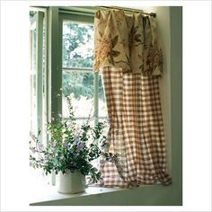 charming window and cottage curtains