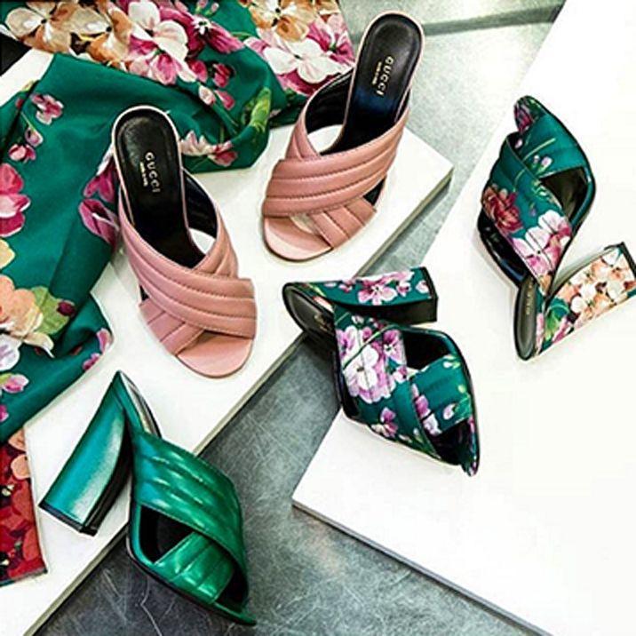 The Spring Slide: Gucci Crossover Mule Sandal- A mon sens les chaussures de pouf par excellence ! Vulgaires. Je passe!