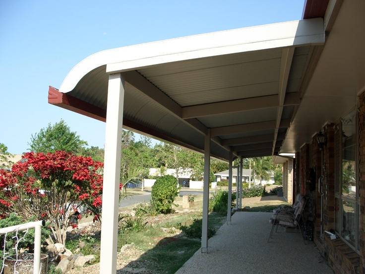 Bullnose patio with timber rafters