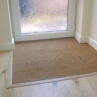 Door Mat inset into floor
