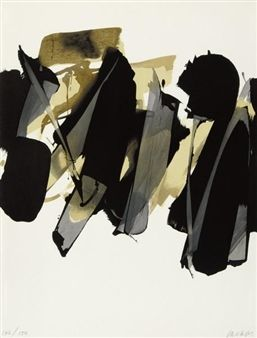 Lithografie Nr. 14, 1964 By Pierre Soulages ,1967