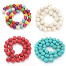 Multicolor Mixed Turquoise Gemstone Stripe Loose Spacer Beads Jewelry Making DIY