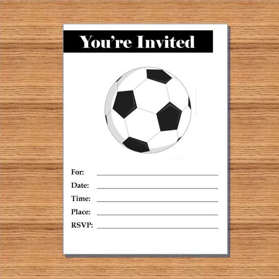 soccer party invitation blank printable by lexiekinprints soccer