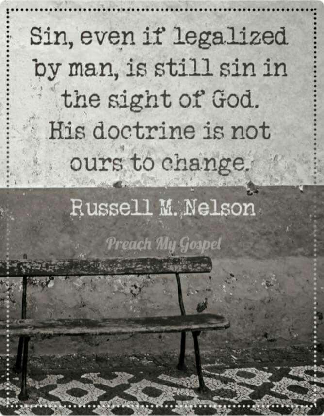 Legalized sin is still Sin