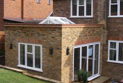 Conservatory Roof Conversion >> flat roof extension with lantern - Google Search | Flat roof shed, Flat roof skylights, Flat ...