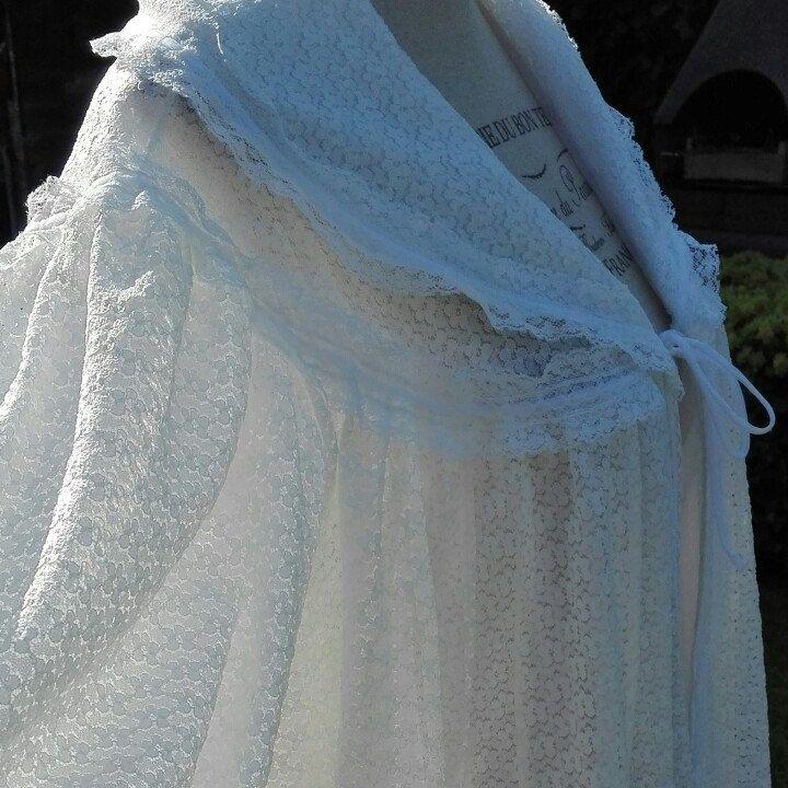 Sposa Dressing gown wedding White woman LUSSO vestaglia Shabby chic