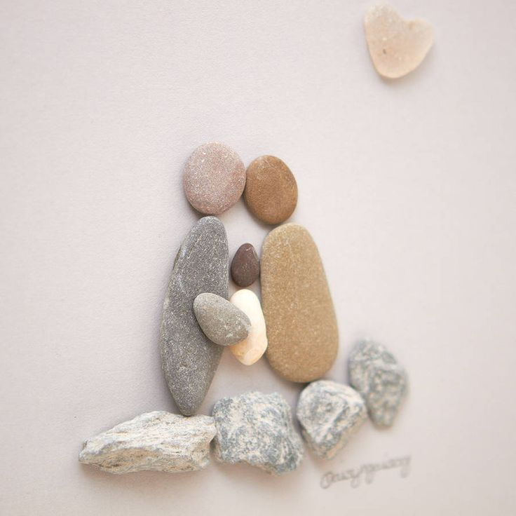 Personalised New Baby Pebble Picture