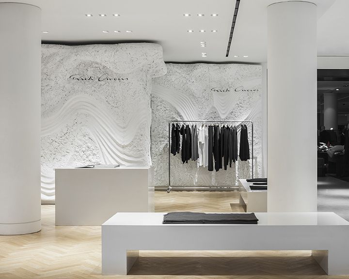 Rick Owens Selfridges London By Patrick Tighe Architecture Is A Finalist In The Interior Design Best Of Year Awards