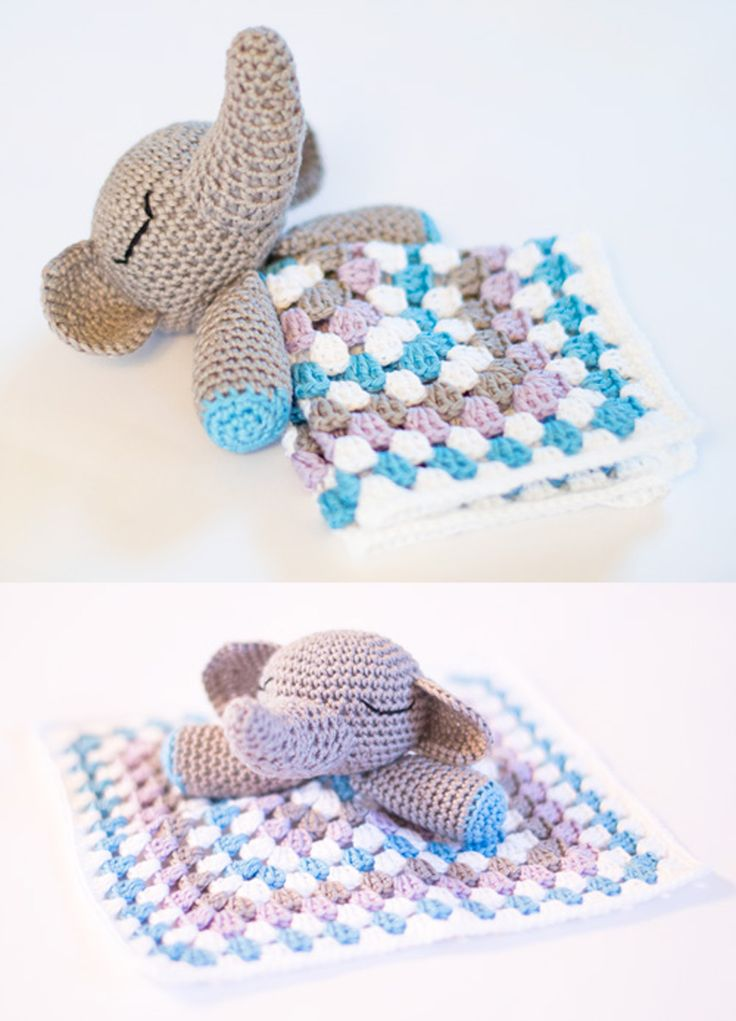 Knitting Animals From Squares : Best baby snuggle comfort blankets free patterns