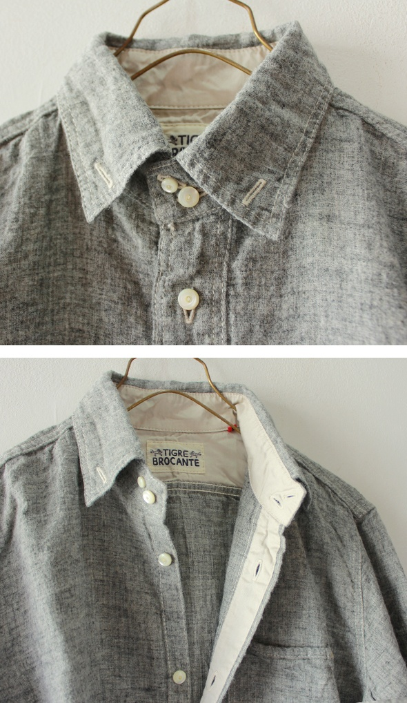 Tigre Brocante - Top Linen Worker SH from Takanna Japan