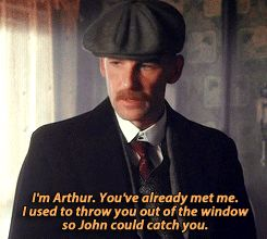 Peaky Blinders Arthur meeting Michael