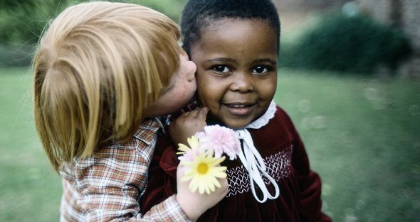 International Day for Tolerance: Under Apartheid inter-racial marriage was illegal in South Africa. Children however don't know about racial discrimination.