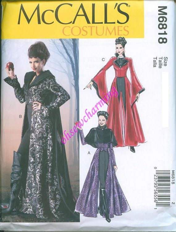 Hey, I found this really awesome Etsy listing at https://www.etsy.com/listing/156943123/once-upon-a-time-costume-pattern-mccalls