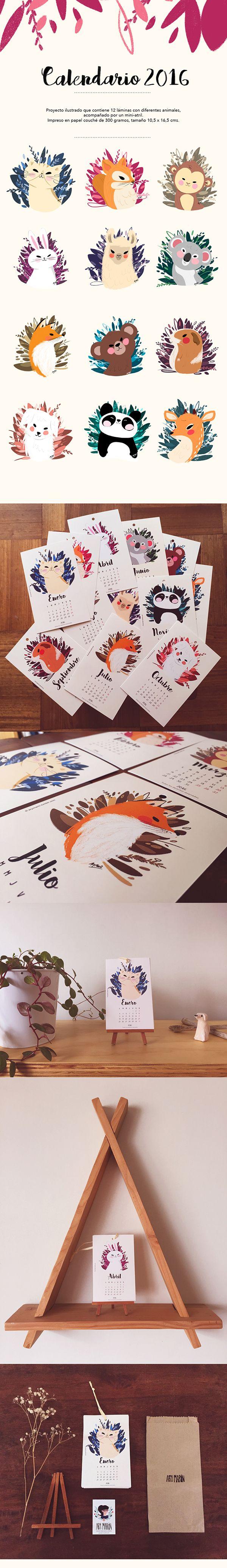 Calendario Ilustrado 2016 - форма рисунка - не круг, но завершенная
