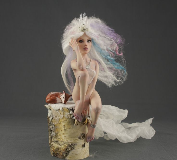 Aurora Borealis ooak doll by Elettra Land
