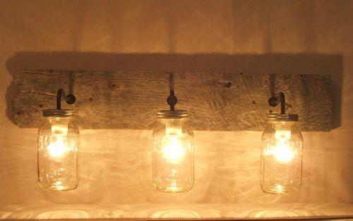 Rustic Industrial Modern Mason Jar Light Fixture Porch By: Rustic Mason Jar Wall Light Sconce Vanity Fixture