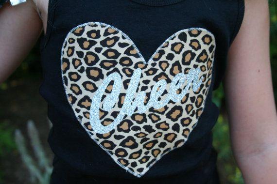 Leopard and Glitter Cheer Shirt, Cheerleading Shirt, Cheerleading Tanks, Cheer, Cheerleading, Cheer Athletics
