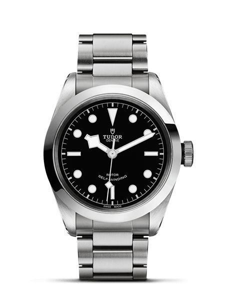 On the campaign Lady Gaga appears to be wearing Tudor's Black bay. A 41-mm automatic time piece inspired by past models in the brand's history including the first Tudor diving watches.