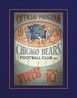1930 Chicago Bears Wall Decor, Football Program Cover Art Poster. It is a nice gift for any  Chicago Bears fan.  This ready-to-frame wall art is printed to order on heavyweight semi-gloss photo paper. It is then inserted into a 100% archival safe, acid-free clear sleeve. Lastly, it is carefully packaged in a flat mailer to ensure safe delivery.  Buy with confidence. I stand behind everything I sell. If you are not satisfied with any aspect of your purchase please let me know so I can resolve…
