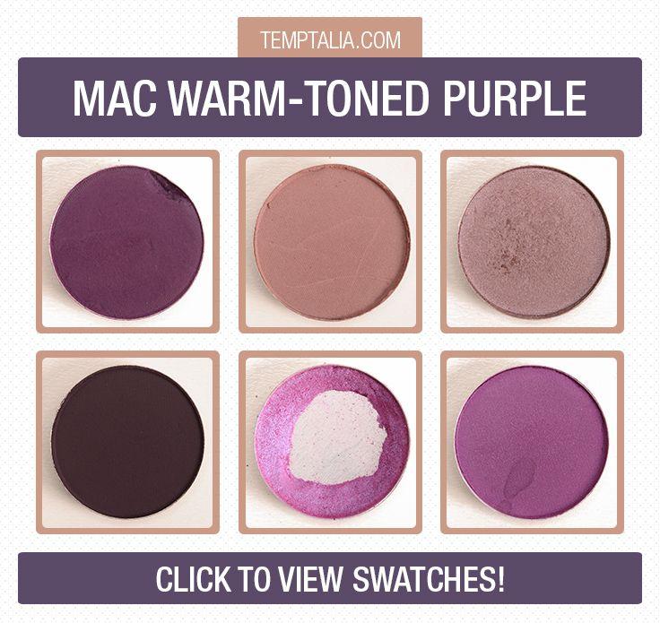 mac warmertoned purple eyeshadows photos amp swatches