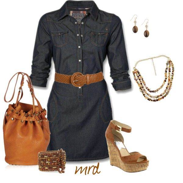 Belted Denim Dress :)