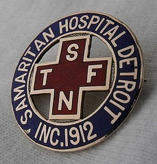 Samaritan Hospital Training School for Nurses Graduation Pin - Detroit, Michigan