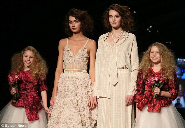 Naturals: Heath Ledger's twin nieces, Rorie and Scarlett, stole the show as they made their big debut as posy-carrying bridesmaids in the Empire Rose finale on Thursday