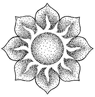 potisk, originální motiv na tričko,T-ART.CZ, ornament sun aztec tattoo design